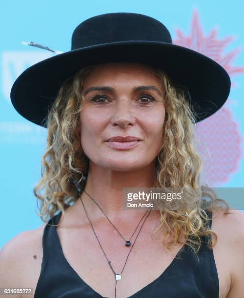 Danielle Cormack arrives at Tropfest at Parramatta Park on February 11 2017 in Sydney Australia