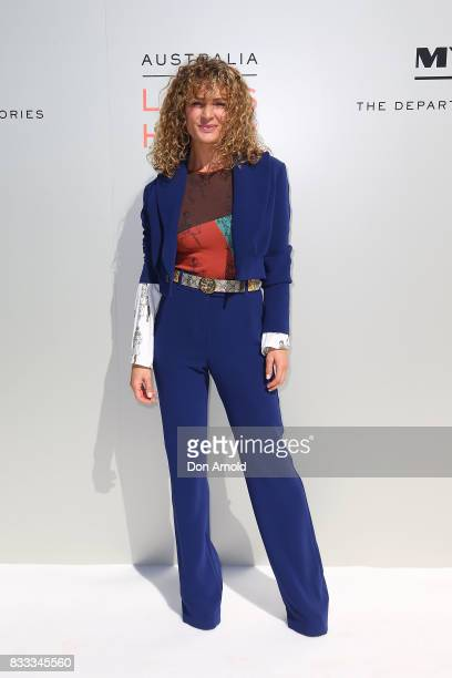 Danielle Cormack at the Myer Spring 2017 Fashion Launch on August 17 2017 in Sydney Australia
