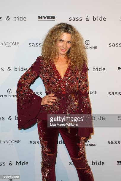Danielle Cormack attends the Sass Bide show at MercedesBenz Fashion Week Resort 18 Collections at Bay 2224 Carriageworks on May 15 2017 in Sydney...