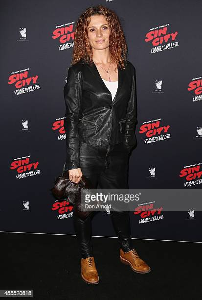 Danielle Cormack poses at the premiere of Sin City A Dame to Kill For at Dendy Opera Quays on September 16 2014 in Sydney Australia