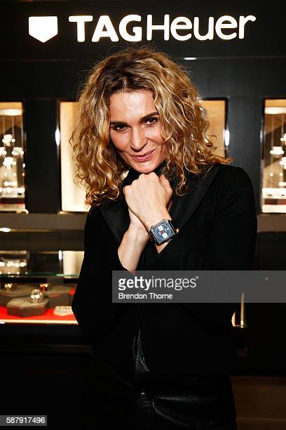 Danielle Cormack poses at the TAG Heuer Sydney Flagship ReOpening at Pitt Street on August 10 2016 in Sydney Australia