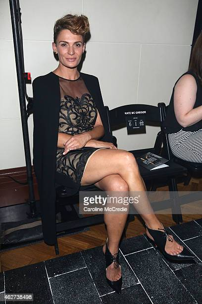 Danielle Cormack poses before the David Jones Autumn/Winter 2015 Collection Launch at David Jones Elizabeth Street Store on February 4 2015 in Sydney...