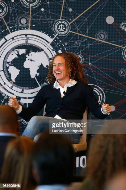 Danielle Costa VP, Visual Effects, Marvel Studios addresses the delegates during the Beyond Innovation Summit at Levi's Stadium on May 23, 2018 in...