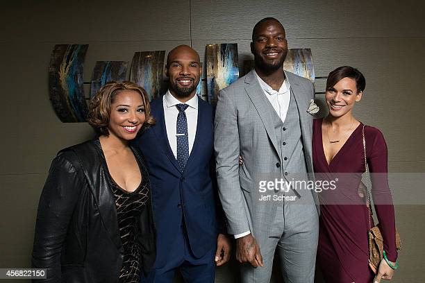 Danielle Daniels Forte NFL Player Matt Forte NFL Player Martellus Bennett and Siggi Bennett attend Michigan Avenue Magazine's October Cover...