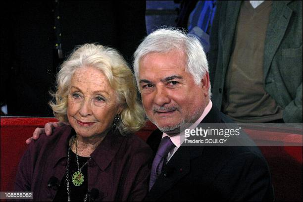 Danielle Darrieux JeanClaude Brialy in Paris France on February 02nd 2003