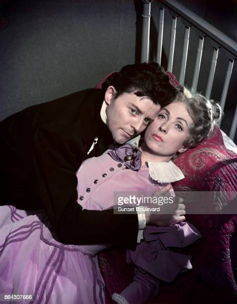 Danielle Darrieux on the set of Le rouge et le noir directed by Claude AutantLara