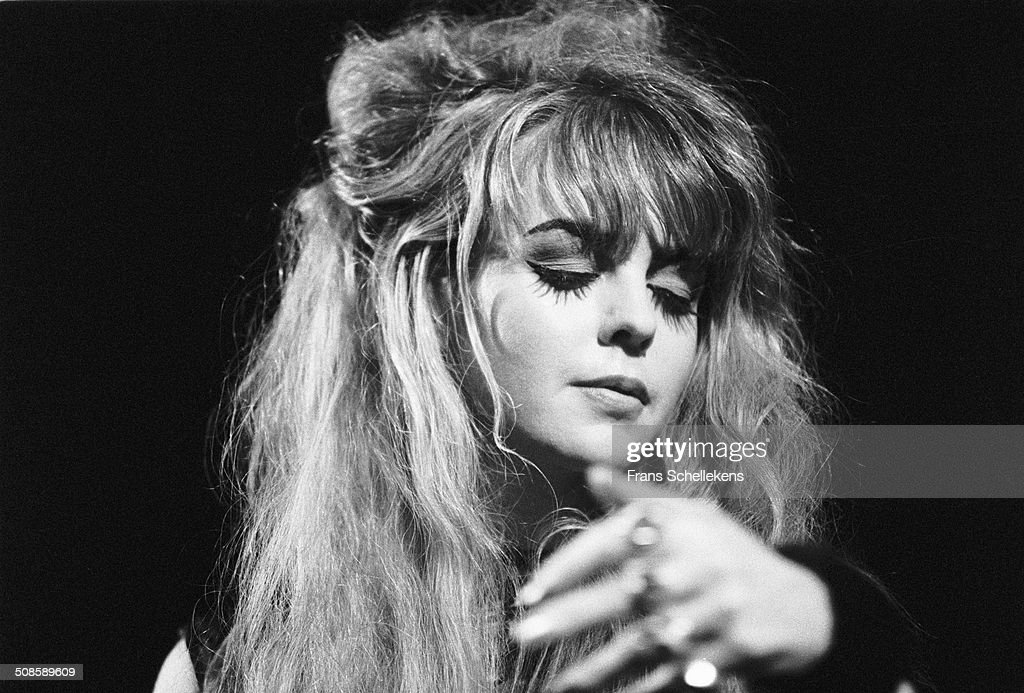 Danielle Dax, vocals, performs at the Paradiso on 22nd August 1991 in Amsterdam, Netherlands.