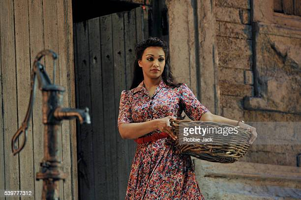 Danielle De Niese as Adina in Gaetano Donizetti's L'Elisir D'Amore directed by Annabel Arden and conducted by Enrique Mazzola at Glyndebourne