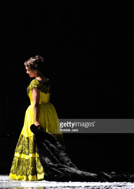 Danielle de Niese as Musetta in the Royal Opera's production of Giacomo Puccini's La boheme directed by Richard Jones and conducted by Nicola...