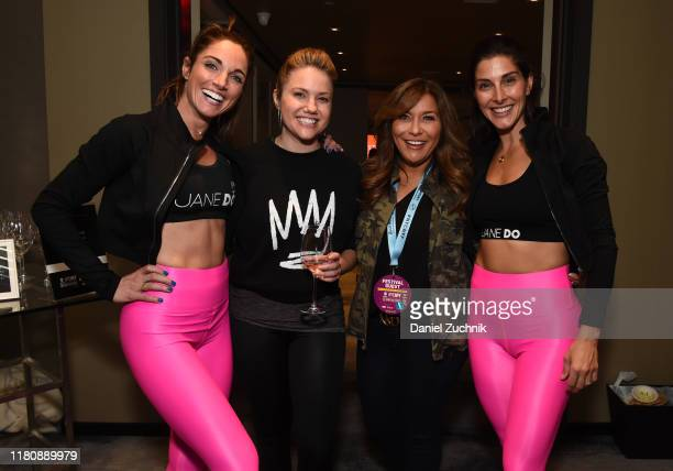 Danielle DeAngelo jaymee Sire Lisa Lillien and Jacey Lambros pose during Fit Feast presented by Chateau D'Esclans hosted by Jane DO and Hannah...