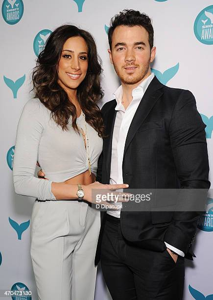 Danielle Deleasa and Kevin Jonas attend The 7th Annual Shorty Awards on April 20 2015 in New York City