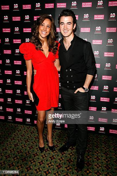 Danielle Deleasa and Kevin Jonas attend the Candie's Foundation 2011 event to prevent benefit gala at Cipriani 42nd Street on May 3 2011 in New York...