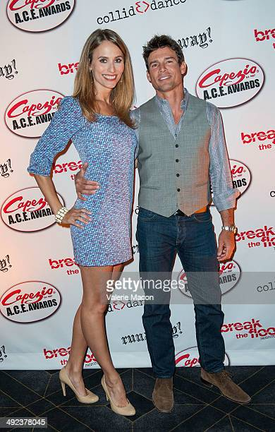 Danielle Demski and Ethan Erickson arrive at CollidEdance's Runaway An AllMale Dance Theatre Production Opening Nightat Avalon on May 19 2014 in...