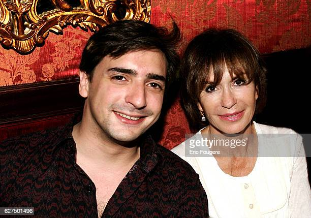 Danielle Evenou with her son Frederic Martin at Castel Party held in Paris
