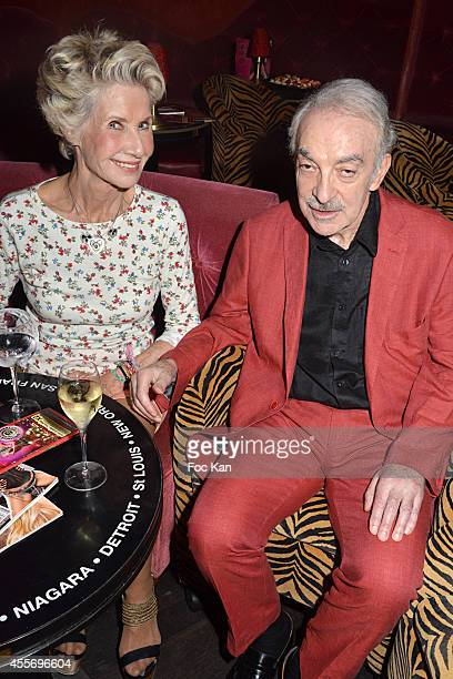 Danielle Gilbert and Patrick Scemama attend the 'Penthouse Black TV Channel' Launch Party At the Penthouse Club on September 18 2014 in Paris France