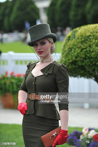 Danielle Gingell from Mayo takes part in ladies day at the Royal Dublin Society Dublin horse show at Royal Dublin Society on August 8 2013 in Dublin...