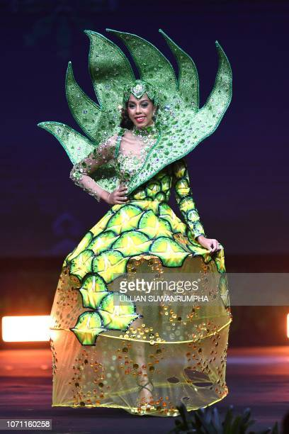 Danielle Grant Miss Bahamas 2018 walks on stage during the 2018 Miss Universe national costume presentation in Chonburi province on December 10 2018