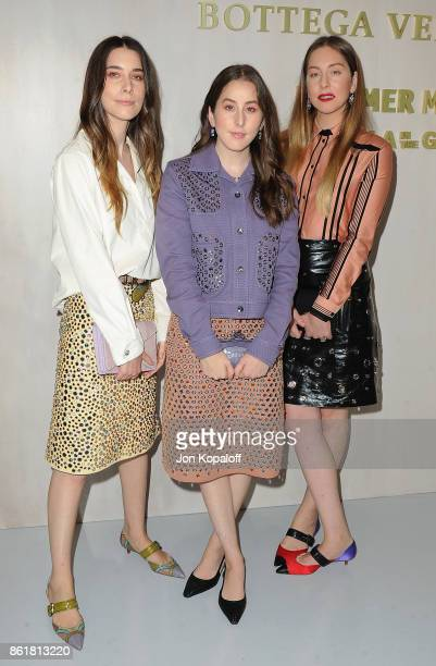 Danielle Haim Alana Haim and Este Haim of Haim arrive at the Hammer Museum Gala In The Garden at Hammer Museum on October 14 2017 in Westwood...