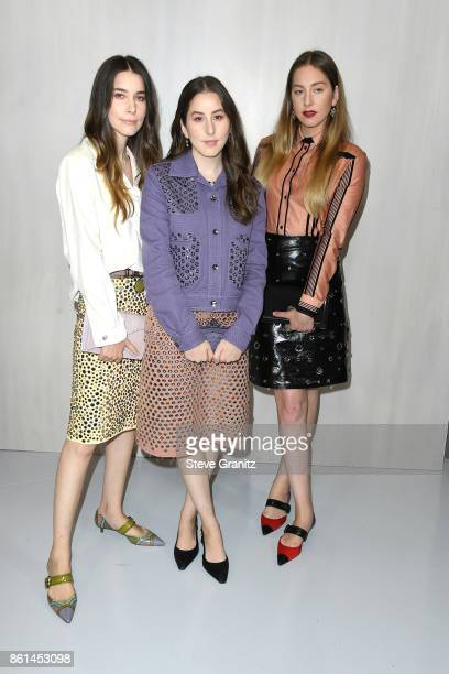 Danielle Haim Alana Haim and Este Haim of HAIM at Bottega Veneta Hosts Hammer Museum Gala In The Garden on October 14 2017 in Westwood California