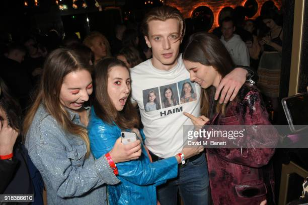 Danielle Haim Alana Haim Jack Saunders and Este Haim attend the Copper Dog NME Awards 2018 after party at Kadie's Cocktail BarClub on February 14...