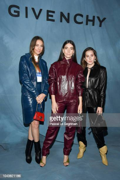Danielle Haim Este Haim and Alana Haim from the band HAIM attend the Givenchy show as part of the Paris Fashion Week Womenswear Spring/Summer 2019 on...
