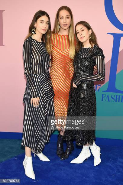 Danielle Haim Este Haim and Alana Haim of Haim attend the 2017 CFDA Fashion Awards at Hammerstein Ballroom on June 5 2017 in New York City
