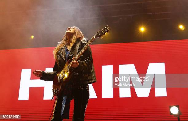 Danielle Haim of Haim performs during Splendour in the Grass 2017 on July 21 2017 in Byron Bay Australia