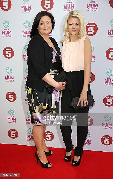 Danielle Harold and her mother attends the Tesco Mum of the Year awards at The Savoy Hotel on March 23 2014 in London England