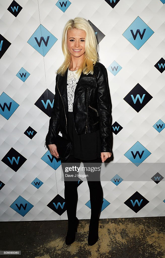 Danielle Harold attends a celebration of the new TV channel 'W,' launching on Monday 15th February, at Union Street Cafe on February 11, 2016 in London, England.