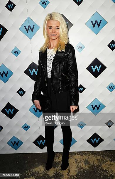 Danielle Harold attends a celebration of the new TV channel W launching on Monday 15th February at Union Street Cafe on February 11 2016 in London...