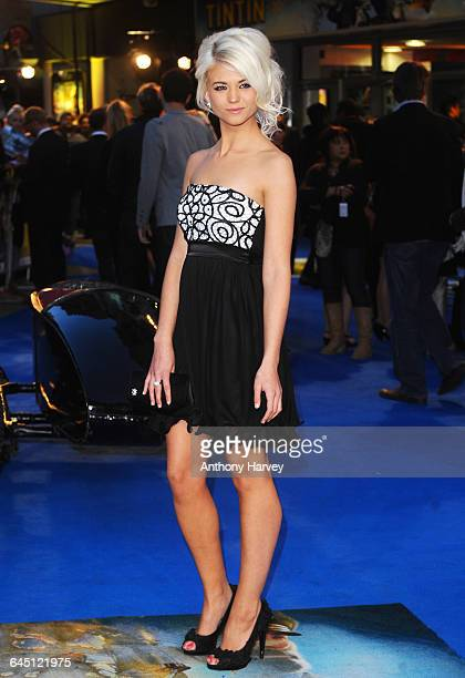 Danielle Harold attends The Adventures Of Tintin The Secret Of The Unicorn Premiere at Odeon West End Cinema on October 23 2011 in Leicester Square...
