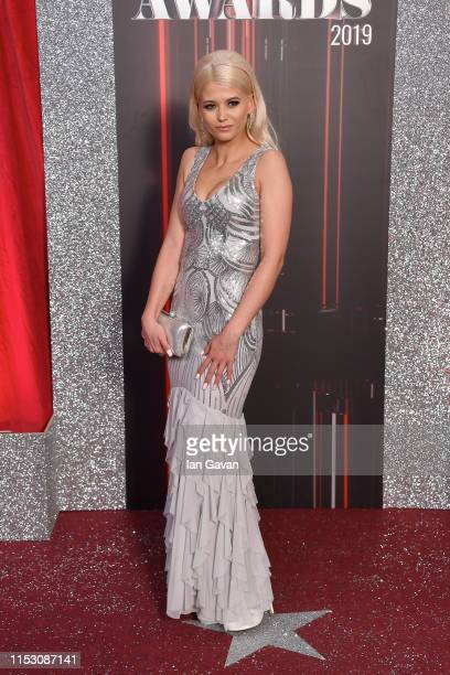 Danielle Harold attends the British Soap Awards at The Lowry Theatre on June 01 2019 in Manchester England