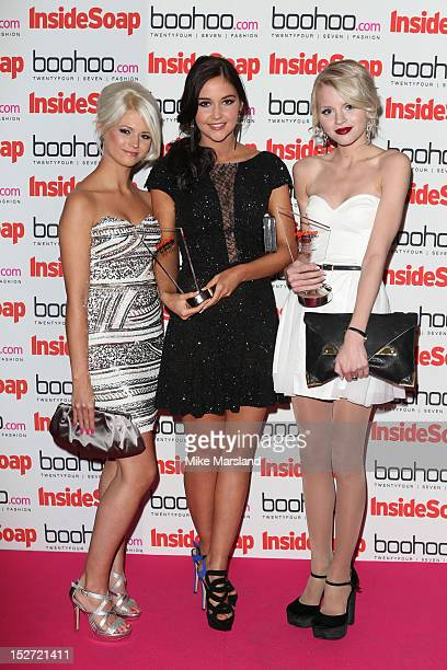 Danielle Harold Jacqueline Jossa and Hetti Bywater attend the Inside Soap Awards at One Marylebone on September 24 2012 in London England