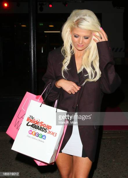 Danielle Harold leaving the Inside Soap Awards on October 21 2013 in London England