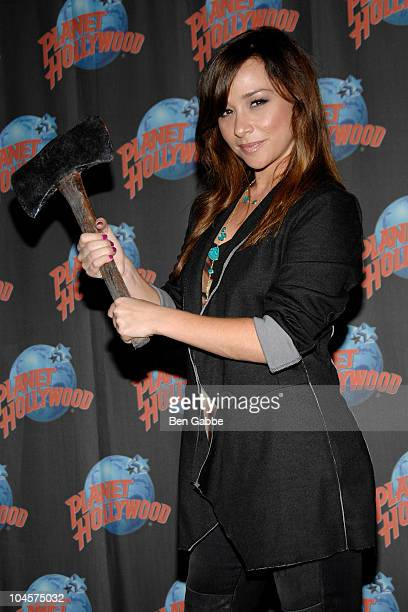Danielle Harris visits Planet Hollywood Times Square on September 30 2010 in New York City