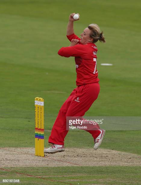 Danielle Hazel of Lancashire Thunder during the Kia Super League 2017 between Yorkshire Diamonds and Lancashire Thunder at Headingley on August 11...