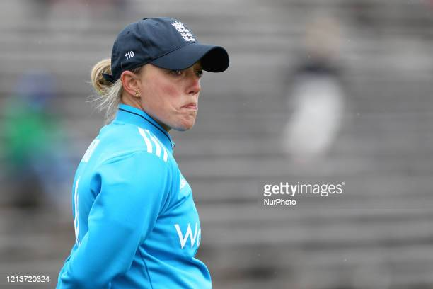 Danielle Hazell of England during the First One Day International between England Women and India Women at Scarborough CC, North Marie Road,...