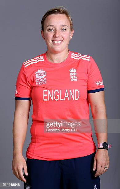 Danielle Hazell of England during the photocall of the England team ahead of the Women's ICC World Twenty20 India 2016 on March 9 2016 in Chennai...