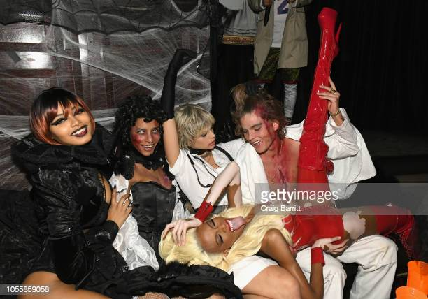 Danielle Herrington Amelia Rami Jessica Clarke Winnie Harlow and Jordan Barrett attend Heidi Klum's 19th Annual Halloween Party Sponsored by SVEDKA...