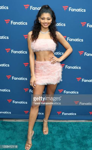 Danielle Herrington attends Michael Rubin's Fanatics Super Bowl Party at Loews Miami Beach Hotel on February 01 2020 in Miami Beach Florida