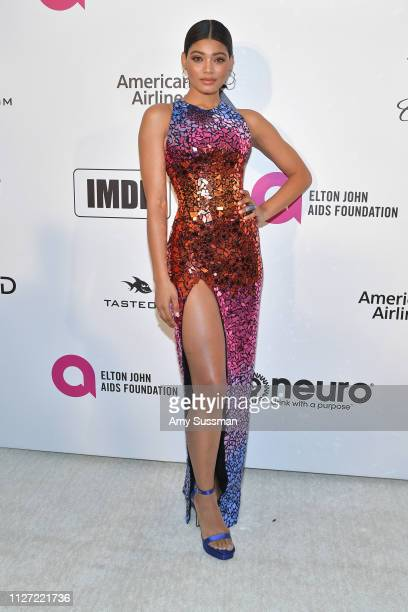 Danielle Herrington attends the 27th annual Elton John AIDS Foundation Academy Awards Viewing Party celebrating EJAF and the 91st Academy Awards on...