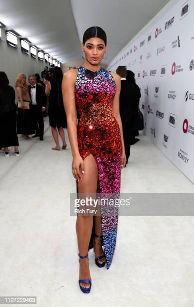 Danielle Herrington attends the 27th annual Elton John AIDS Foundation Academy Awards Viewing Party sponsored by IMDb and Neuro Drinks celebrating...