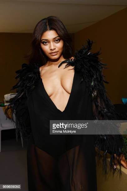 Danielle Herrington attends the amfAR Gala Cannes 2018 dinner at Hotel du CapEdenRoc on May 17 2018 in Cap d'Antibes France