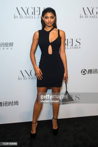 Danielle Herrington attends the Russell James 'Angels' book launch & exhibit at Stephan Weiss Studio on September 6, 2018 in New York City.