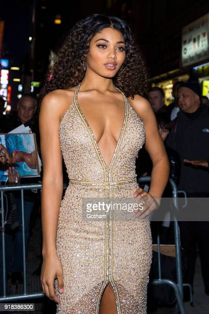 Danielle Herrington attends the Sports Illustrated Swimsuit 2018 launch event at the Moxie Hotel on February 14 2018 in New York City