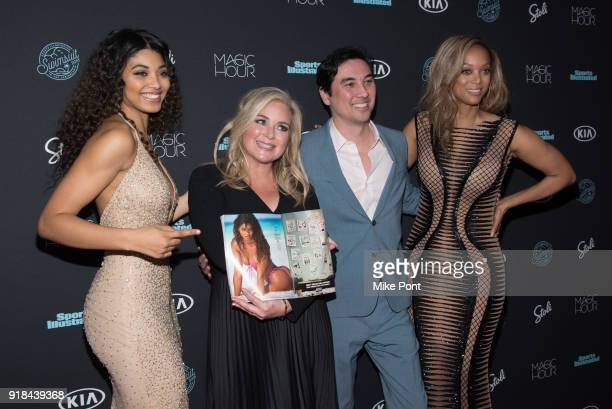 Danielle Herrington Editor of SI Swimsuit MJ Day Sports Illustrated Editor in Chief Chris Stone and Tyra Banks attend the 2018 Sports Illustrated...