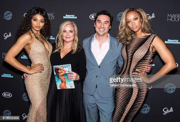 Danielle Herrington Editor of SI Swimsuit MJ Day Sports Illustrated Editor inchief Chris Stone and Tyra Banks attend the 2018 Sports Illustrated...