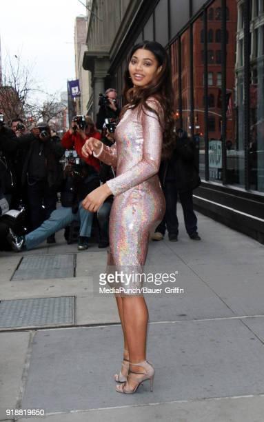 Danielle Herrington is seen on February 15 2018 in New York City