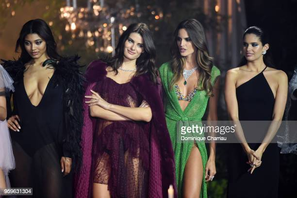 Danielle Herrington Isabeli Fontana Alessandra Ambrosio and Sara Sampaio on stage at the amfAR Gala Cannes 2018 at Hotel du CapEdenRoc on May 17 2018...
