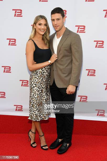 Danielle Hooper and Charlie Coyle attend the Grand Opening of TB12 Performance Recovery Center on September 17 2019 in Boston Massachusetts